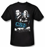 CSI T-shirt - Investigate This Adult Black Tee