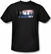 CSI T-shirt - New York Subway Adult Black Tee