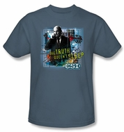 CSI T-shirt - Truth Doesn't Sleep Adult Slate Tee