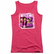 Culture Club Juniors Tank Top Band Photo Hot Pink Tanktop