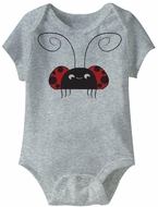 Cute Lady Bug Funny Baby Romper Grey Infant Babies Creeper