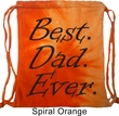Dad Bag Best Dad Ever Black Print Tie Dye Bag