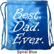 Dad Bag Best Dad Ever White Print Tie Dye Bag