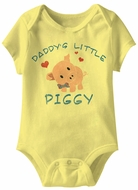 Daddy's Little Piggy Funny Baby Romper Yellow Infant Babies Creeper