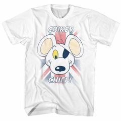 Danger Mouse Shirt Crikey White T-Shirt