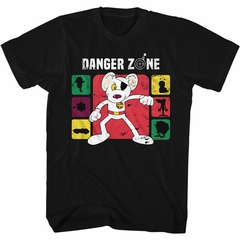 Danger Mouse Shirt Danger Zone Black T-Shirt