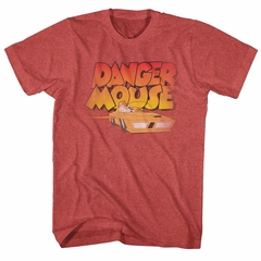 Danger Mouse Shirt Flying Car Red T-Shirt