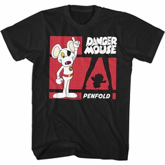 Danger Mouse Shirt Penfold Black T-Shirt