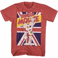Danger Mouse Shirt Union Jack Red Heather T-Shirt