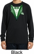 Dark Green Tuxedo Kids Moisture Wicking Long Sleeve Shirt