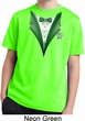 Dark Green Tuxedo Kids Moisture Wicking Shirt