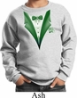 Dark Green Tuxedo Kids Sweat Shirt