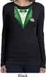 Dark Green Tuxedo Ladies Long Sleeve Shirt