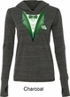 Dark Green Tuxedo Ladies Tri Blend Hoodie Shirt