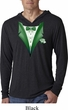 Dark Green Tuxedo Lightweight Hoodie Shirt