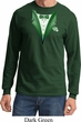 Dark Green Tuxedo Long Sleeve Shirt