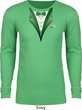 Dark Green Tuxedo Long Sleeve Thermal Shirt