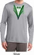 Dark Green Tuxedo Mens Moisture Wicking Long Sleeve Shirt