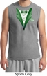 Dark Green Tuxedo Mens Muscle Shirt