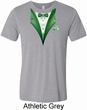 Dark Green Tuxedo Mens Tri Blend Crewneck Shirt