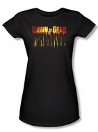 Dawn Of The Dead Juniors T-shirt Walking Black Tee Shirt