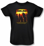 Dawn Of The Dead Ladies T-shirt Title Logo Black Tee Shirt