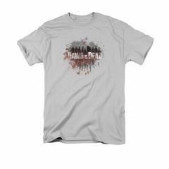 Dawn Of The Dead Shirt Creeping Shadows Adult Silver Tee T-Shirt