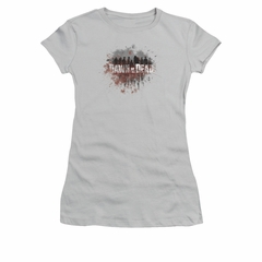 Dawn Of The Dead Shirt Juniors Creeping Shadows Silver Tee T-Shirt