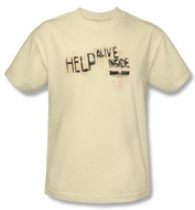 Dawn Of The Dead T-Shirt Help Alive Inside Adult Natural Tee Shirt