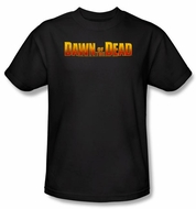 Dawn Of The Dead T-shirt Movie Dawn Logo Adult Black Tee Shirt