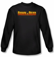 Dawn Of The Dead T-shirt Movie Dawn Logo Black Long Sleeve Tee Shirt
