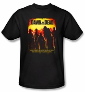 Dawn Of The Dead T-Shirt Movie Title Adult Black Tee Shirt