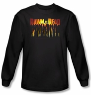 Dawn Of The Dead T-shirt Walking Black Long Sleeve Shirt