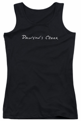 Dawson's Creek Juniors Tank Top Logo Black Tanktop