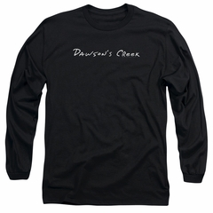 Dawson's Creek Long Sleeve Shirt Logo Black Tee T-Shirt