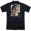 Dawson's Creek Polo They're Just Words Black Back Print Golf Shirt