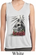 Day of the Dead Candle Skull Ladies Sleeveless Moisture Wicking Shirt