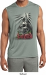 Day of the Dead Candle Skull Mens Sleeveless Moisture Wicking Shirt