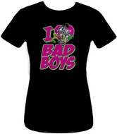 DC Comics Villians Juniors T-shirt - I Heart Bad Boys Tee