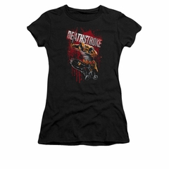 Deathstroke Shirt Blood Splattered Juniors Black Tee T-Shirt