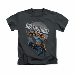 Deathstroke Shirt Retro Kids Charcoal Youth Tee T-Shirt