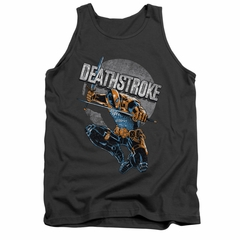Deathstroke Tank Top Retro Charcoal Tanktop