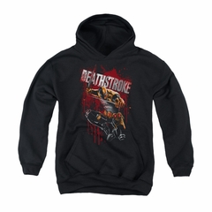 Deathstroke Youth Hoodie Blood Splattered Black Kids Hoody
