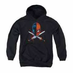 Deathstroke Youth Hoodie Crossed Swords Black Kids Hoody