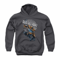 Deathstroke Youth Hoodie Retro Charcoal Kids Hoody