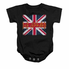 Def Leppard Baby Romper Union Jack Black Infant Babies Creeper
