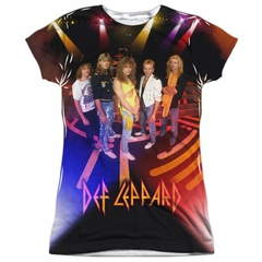 Def Leppard On Stage Sublimation Juniors Shirt