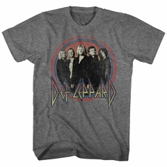 Def Leppard Shirt Band Members Dark Heather Grey T-Shirt