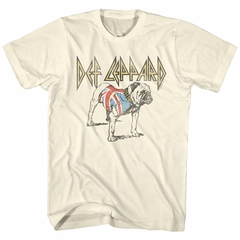 Def Leppard Shirt Bulldog Natural T-Shirt