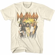 Def Leppard Shirt Group Natural T-Shirt